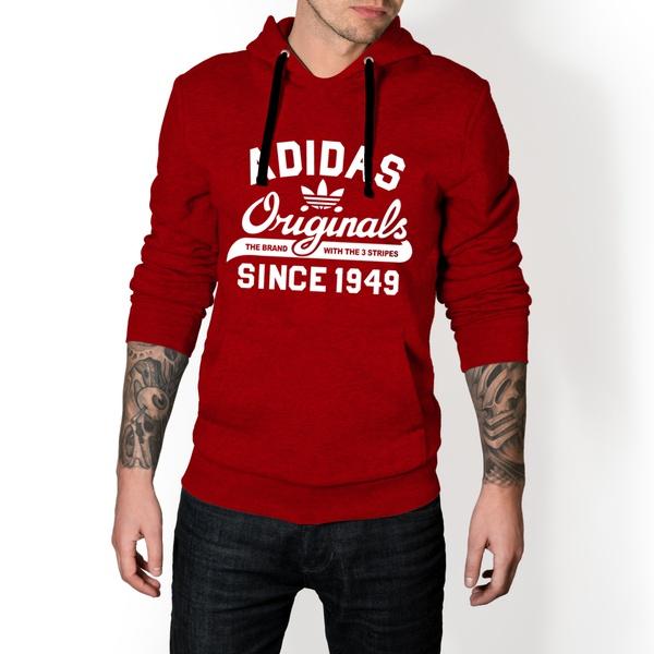Moletom Masculino Adidas Originals - Vermelho e Branco