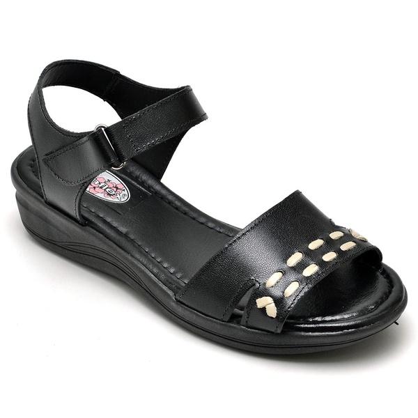 Sandália Feminina Conforto Top Franca Shoes Preto