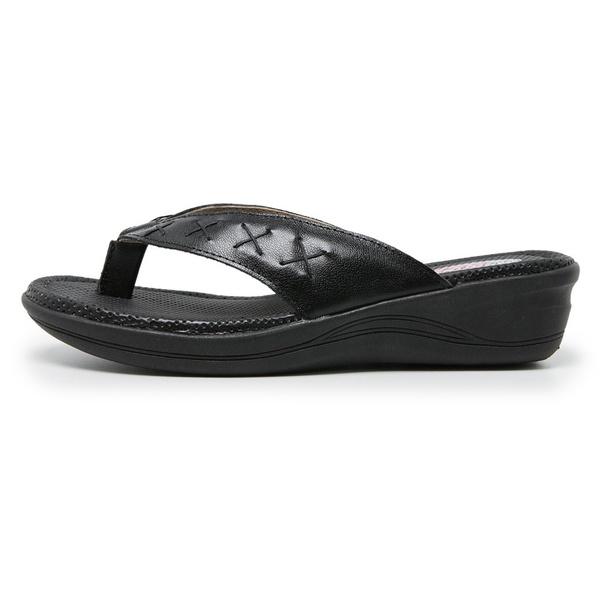 Sandália Chinelo de Dedo Conforto Anatomico Ortopédica Preto