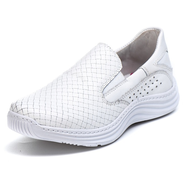 Tênis Sapatenis Slip Top Franca Shoes Off White