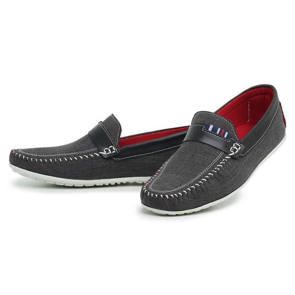 Sapato Masculino Mocassim Top Franca Shoes Cinza