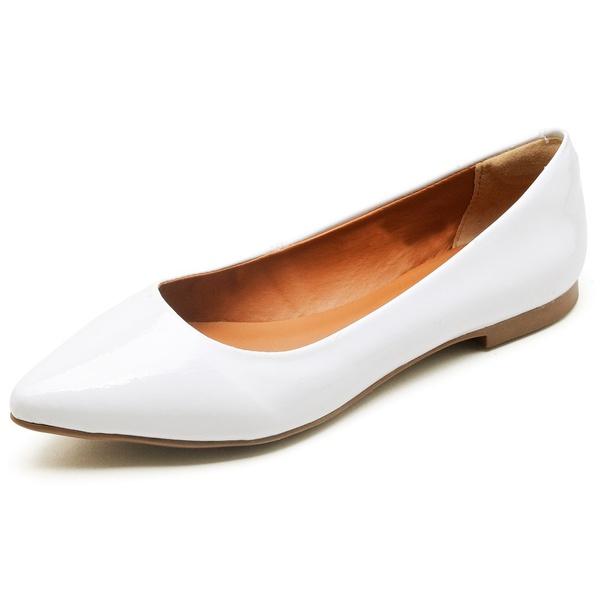 Sapatilha Feminina Bico Fino Top Franca Shoes Branco