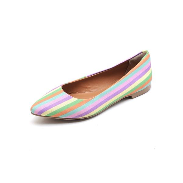 Sapatilha Feminina Bico Fino Top Franca Shoes Arco Íris