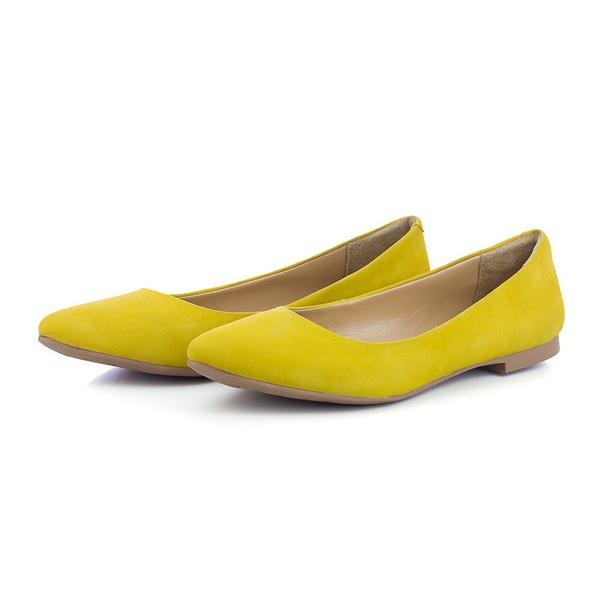 Sapatilha Feminina Bico Fino Top Franca Shoes Amarelo