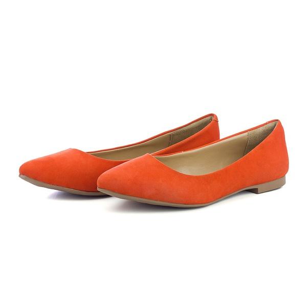 Sapatilha Feminina Bico Fino Top Franca Shoes Laranja