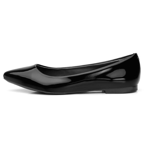 Sapatilha Feminina Bico Fino Top Franca Shoes Verniz Preto