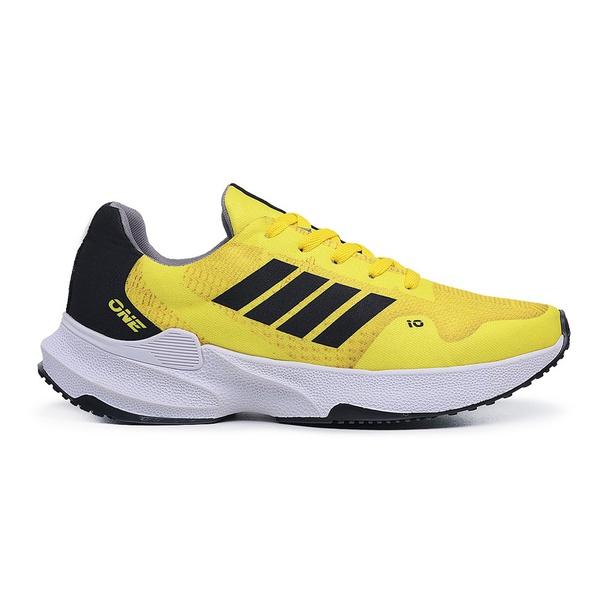 Tenis Masculino Training Corrida Esport Fit Amarelo Preto