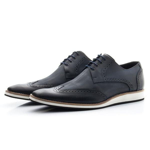 Sapato Oxford Masculino Casual Estonado Marinho