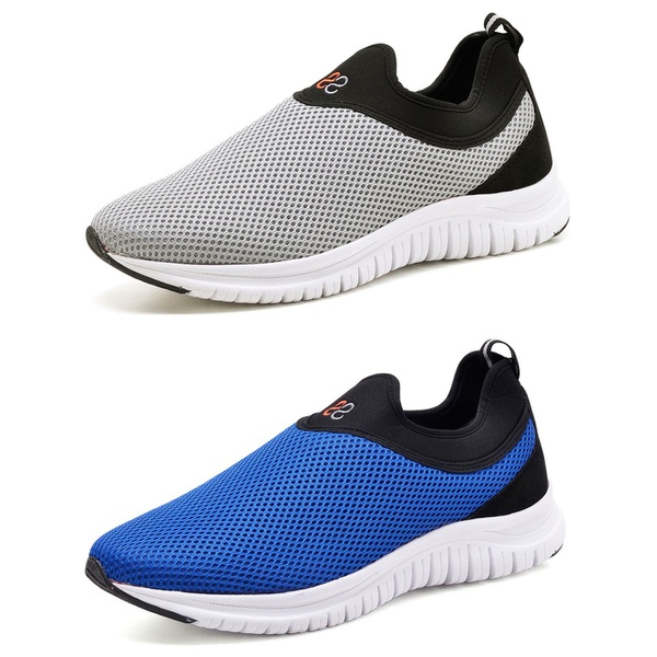 Kit 2 Tênis Masculino Esporte Fit Snap Shoes Azul / Cinza