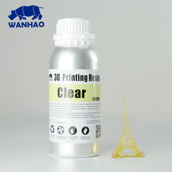 Resina Fotopolimerizável para Impressora 3D com tecnologia DLP - Tipo 405Nm - Clear