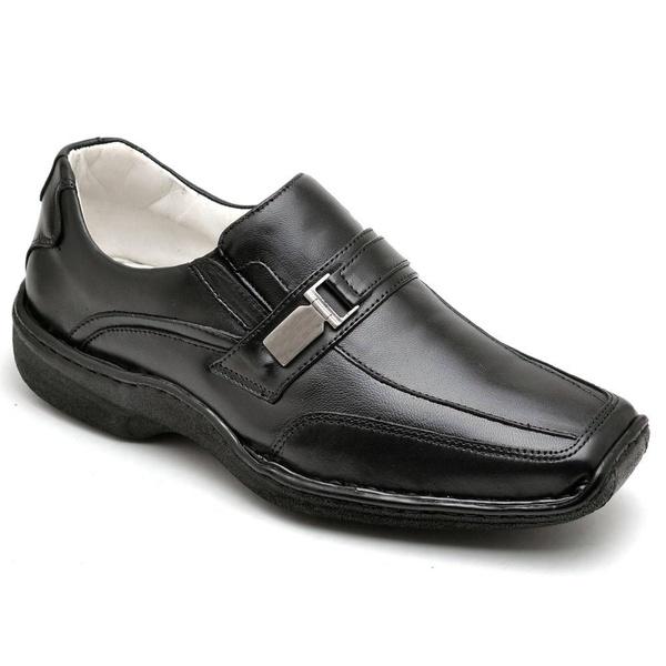 Sapato Masculino Confortável Couro Preto Torani Atenas
