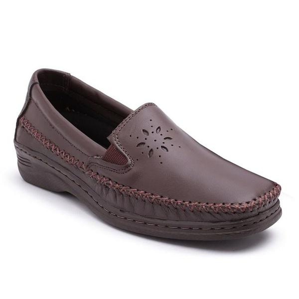 Sapato Mocassim Confortável Feminino Marrom