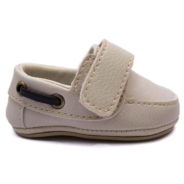 Sapato Mocassim Slip On Infantil Bebê Bege