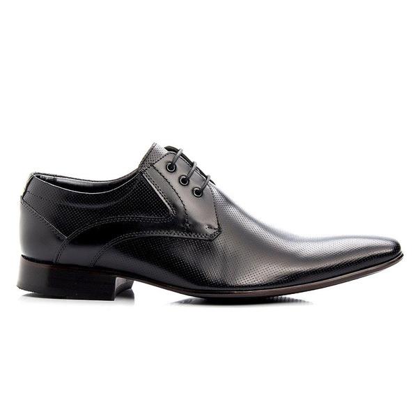 Sapato Social Masculino Cadarço Couro Legítimo Preto