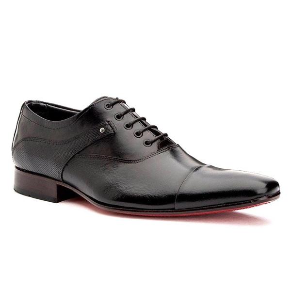 Sapato Social Masculino Oxford Preto Cadarço
