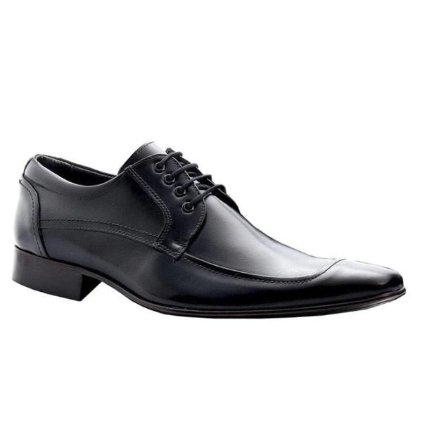 Sapato Social Masculino Couro Legítimo Preto Torani