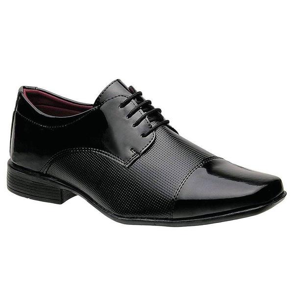 Sapato Social Verniz Preto Masculino Torani Bari
