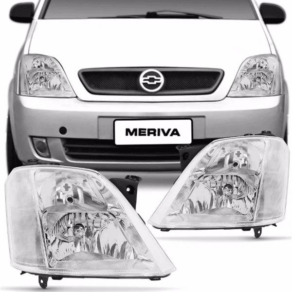 Farol Meriva 2003 A 2012 c/Regulagem Elétrica s/Motor