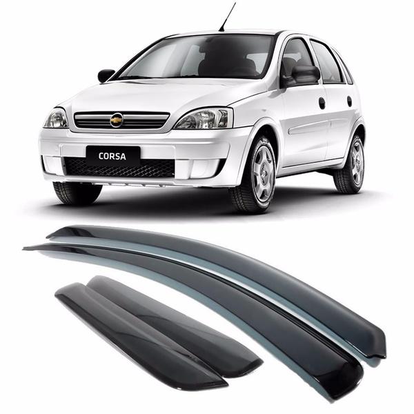 Calha de Chuva Corsa Hatch/Sedan 2002 a 2014 Fumê Jg