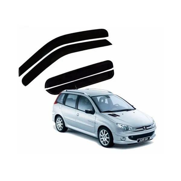 Calha de Chuva Peugeot 206/207 Sw 2005 a 2013 Fumê Jg