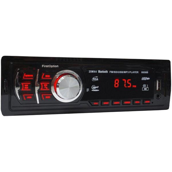 Auto Radio First Option 8850b C/ Controle Remoto/ Bluetooth/ Usb/ Sd/ Mp3/ Rca