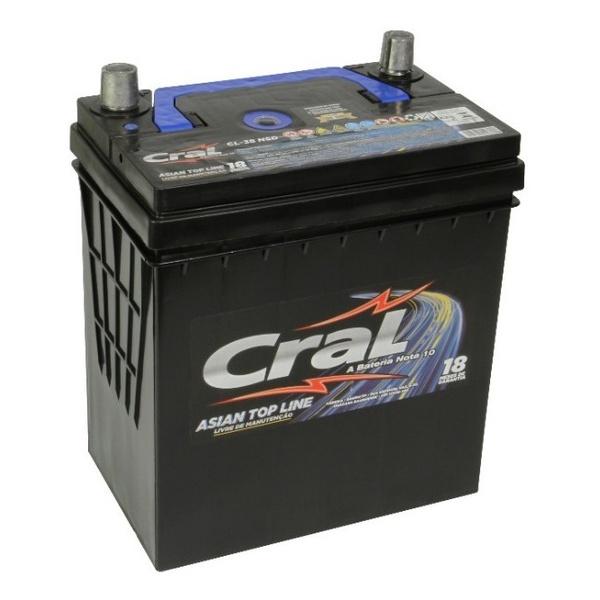 Bateria Automotiva Cral top Line 38Ah Selada (Polo Positivo Direito)