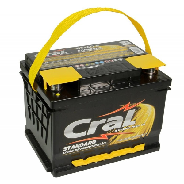 Bateria Automotiva Cral Standard 60Ah Selada (Polo Positivo Direito)