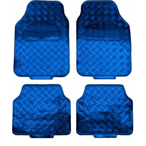 Jogo de Tapete metálico Em Pvc (azul)