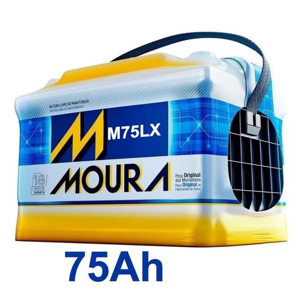 Bateria Automotiva Moura 75Ah Selada (Polo Positivo Direito)