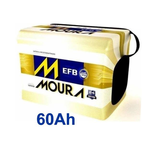 Bateria Automotiva Moura 60Ah Selada (Polo Positivo Direito) Start Stop