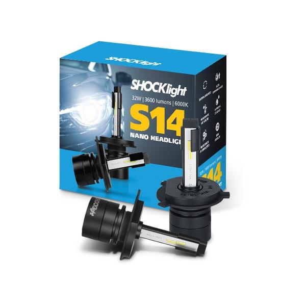 Kit Led Headlight H4 6000K S14 Nano 12V 32 Watts 3600L