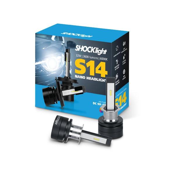 Kit Led Headlight H3 6000K S14 Nano 12V 32 Watts 3600L