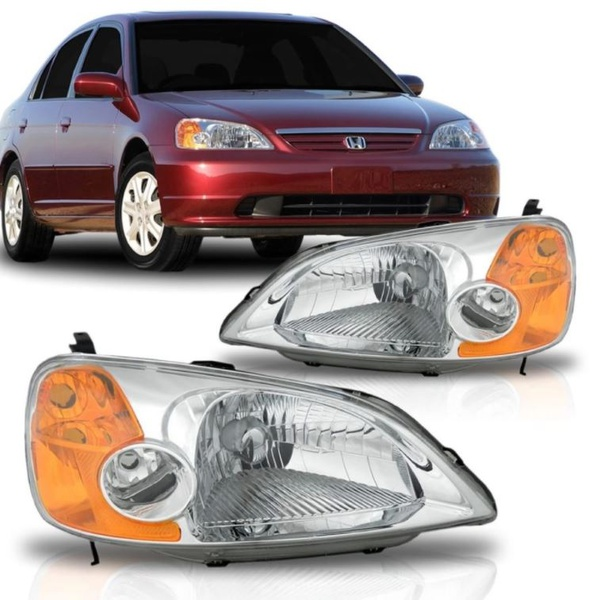 Farol Civic 2001 a 2004 Pisca Ambar