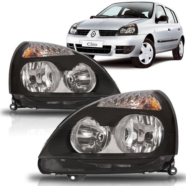 Farol Clio 2004 a 2012 Máscara Preta