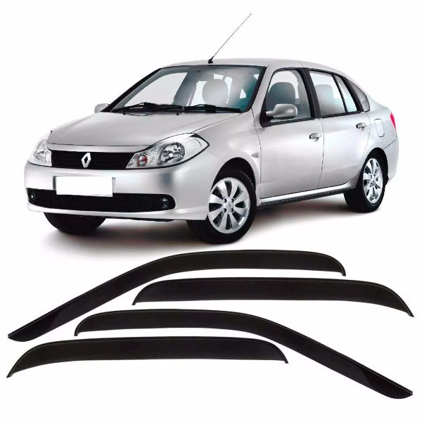 Calha de Chuva Renault Symbol 2009 a 2013 Fumê Jg