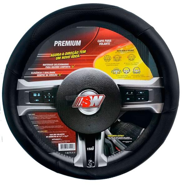 Capa para volante universal preto - Linha Premium - SW