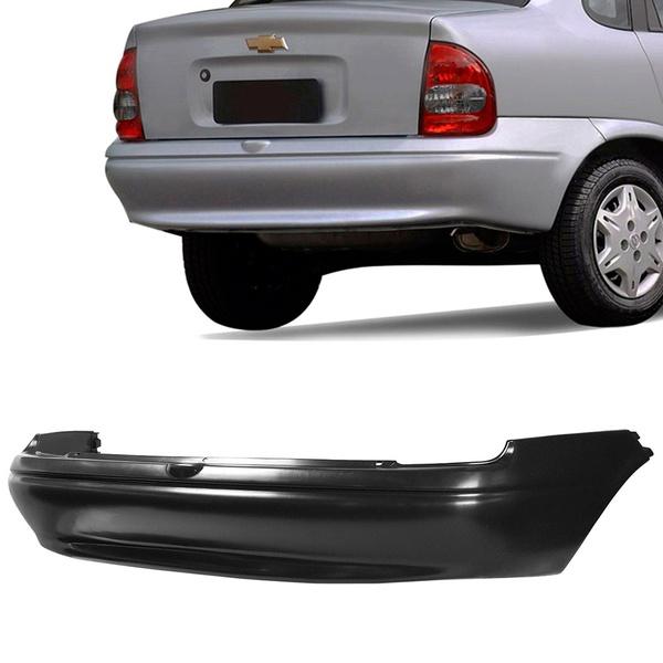 Parachoque Traseiro Corsa Sedan Classic Preto Liso