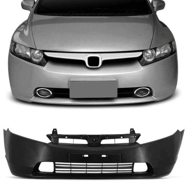 Parachoque Dianteiro Honda Civic NEW 2007 a 2008 Com Furo Milha Com Moldura (DTS)
