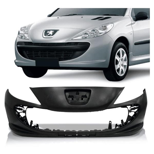 Parachoque Dianteiro Peugeot 207/ 2009 a 2014 Sem Furo de Milha Preto Liso