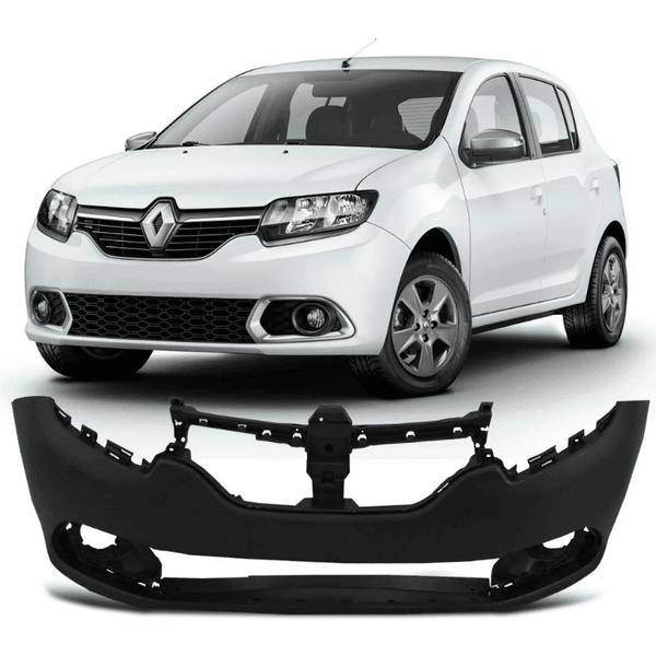 Para-choque Dianteiro Renault Logan/Sandero 2014 a 2018 Preto Liso