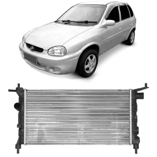 Radiador Corsa Até 2002 1.0, 1.4 e 1.6 Sem Ar