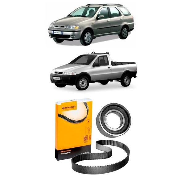 Kit correia dentada Palio, Weekend, Siena e Strada 1996 á 2003, Uno 1991 em diante 1.6 8 válvulas, com tensionador