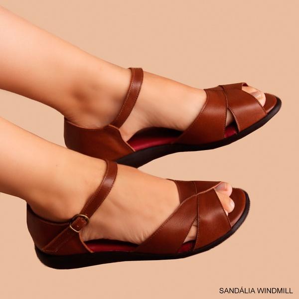 SANDÁLIA WINDMILL CARAMELO