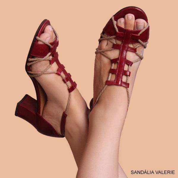 SANDÁLIA VALERIE VERMELHA