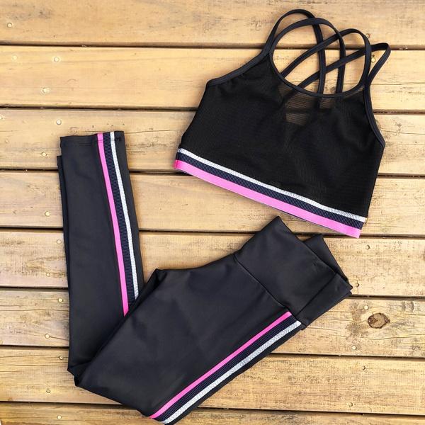 Conj. Fitness com listras New Zealand