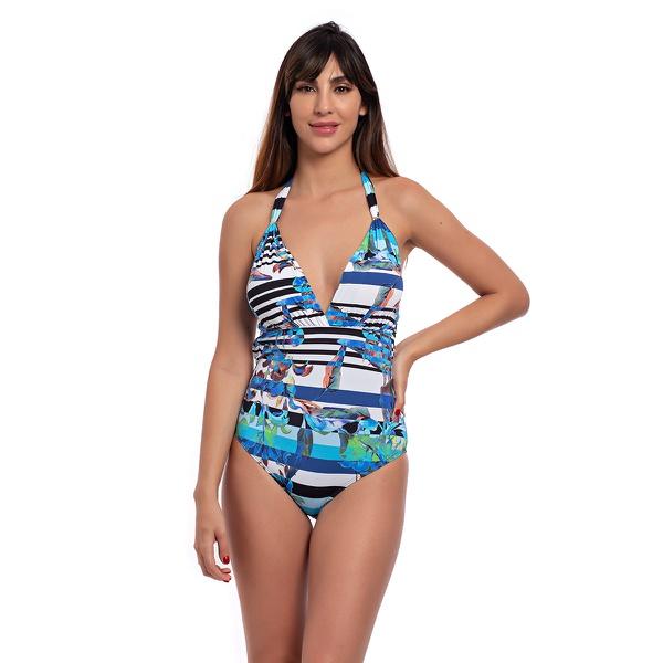 Body Olga Print Blue