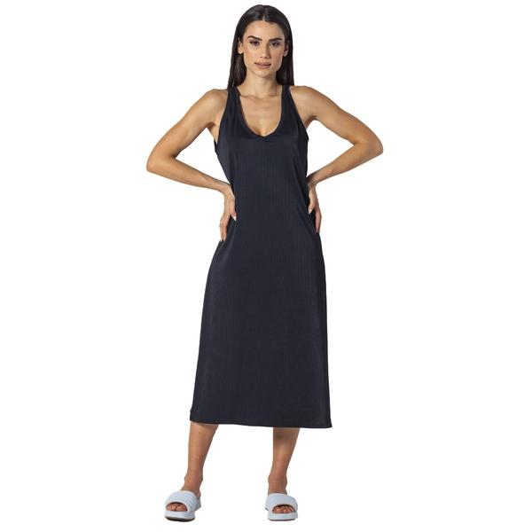 Dress Midi preto com fenda