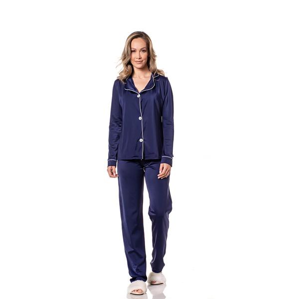 Pijama Homewear Calça e Camisa Marinho