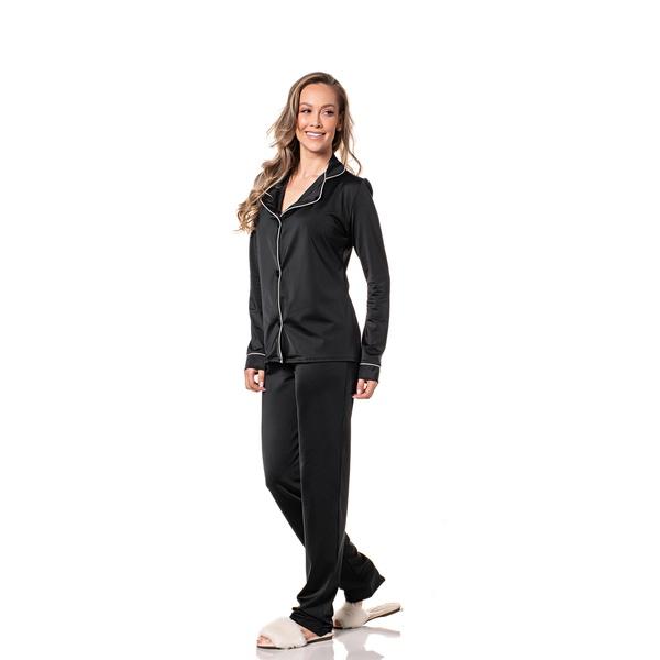 Pijama Homewear Calça e Camisa Preto