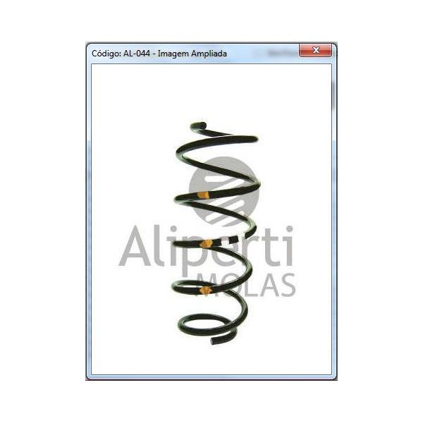 Par de molas suspensão dianteira Ecosport c/ ar 1.6 2003/2012 - AL044
